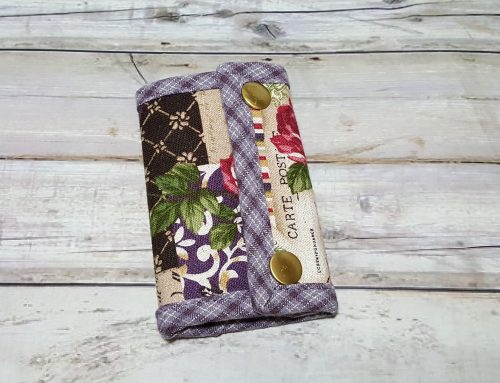 "Key Holder ""Purple Flower"""