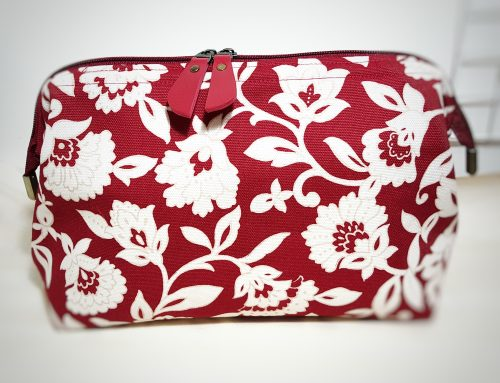 Frame Pouch Red Pattern
